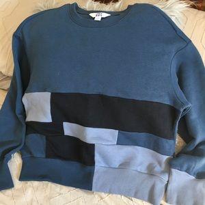JoyLab Patchwork Cropped Sweatshirt